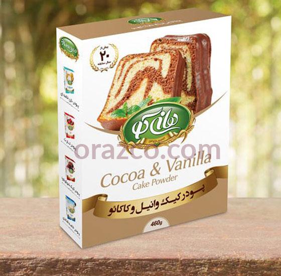 پودر کیک وانیل و کاکائو هانی کو